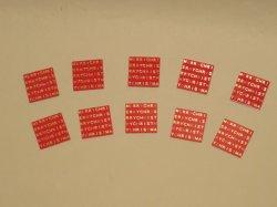 画像1: 【クリスマスに!】ケーキタグ・メリークリスマス赤10枚セット