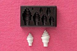 画像1: ミニ立体ねんど型抜き ぷっくりソフトクリーム