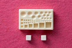 画像1: ミニ立体ねんど型抜き ぷっくりマルポコ&キューブ