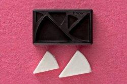 画像1: ミニ立体ねんど型抜き ケーキ(三角型)